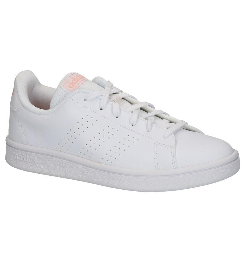 adidas Advantage Base Zwarte Sneakers in kunstleer (293417)
