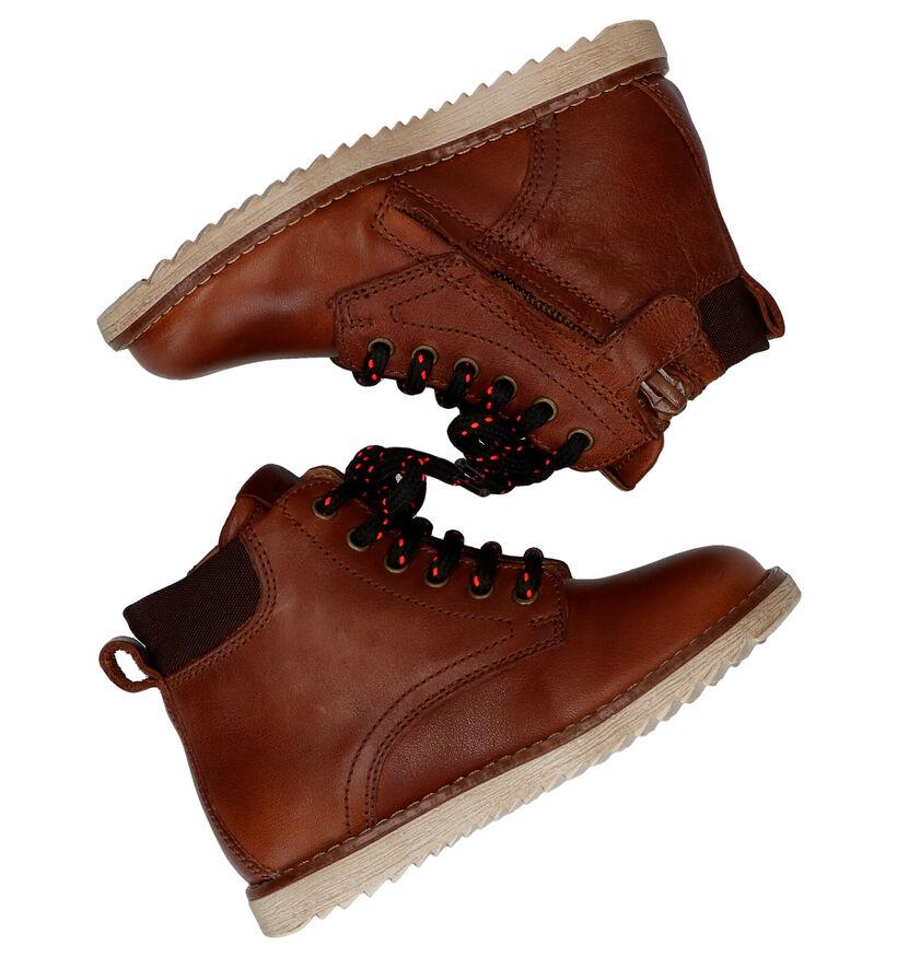 FR By Romagnoli Cognac Boots in leer (282922)