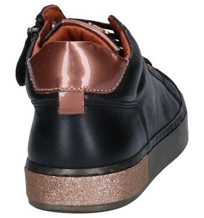 STONES and BONES Chaussures hautes en Noir en cuir (255509)