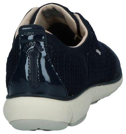Geox Chaussures slip-on en Bleu foncé en textile (223234)