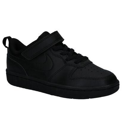 Nike Court Borough Low Baskets en Noir en cuir (261648)