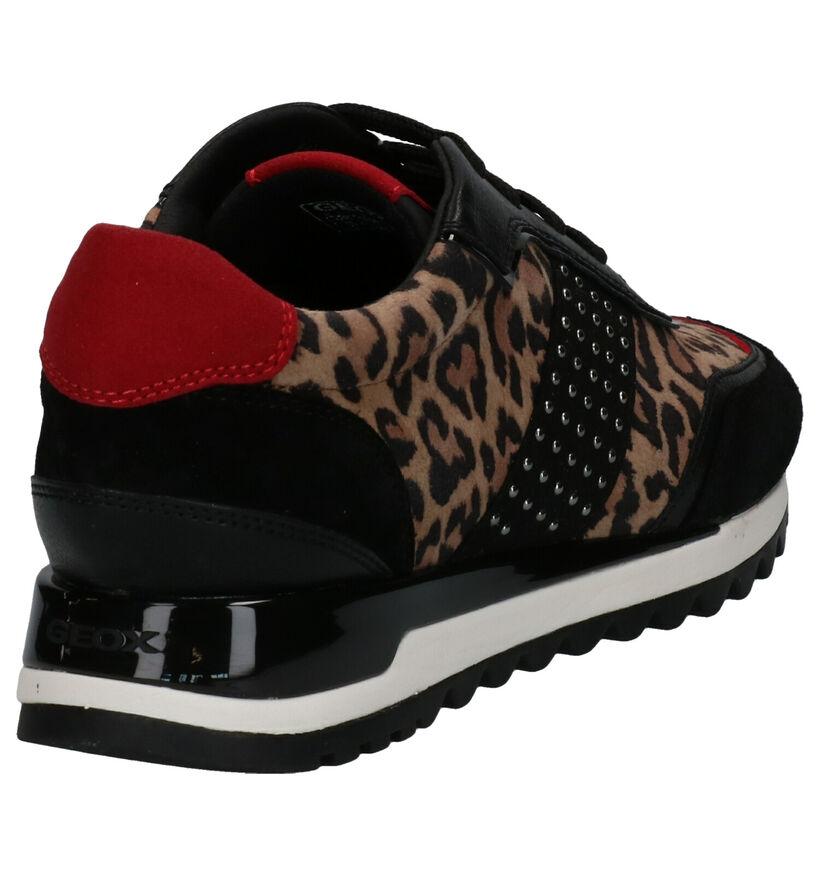 Geox Chaussures à lacets en Noir en cuir (253654)
