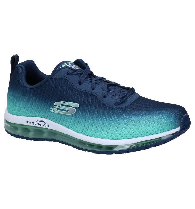 Skechers Blauwe Sneakers in stof (272775)