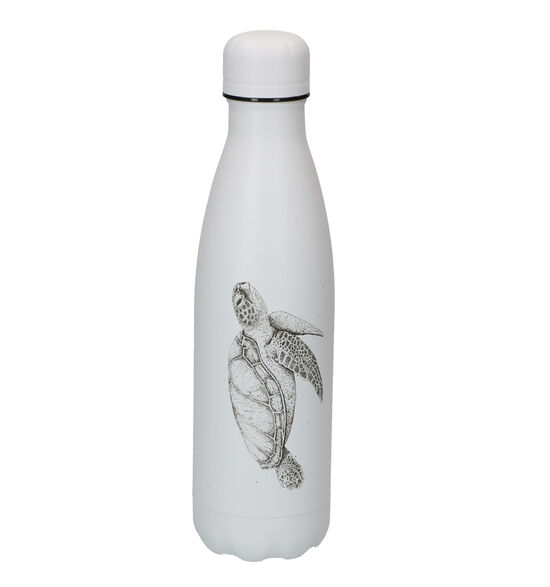 Chilly's Sea Life Turtle Gourde en Blanc 500ml