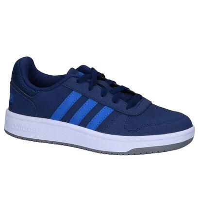 Donkerblauwe Sneakers adidas Hoops 2.0 K, Blauw, pdp