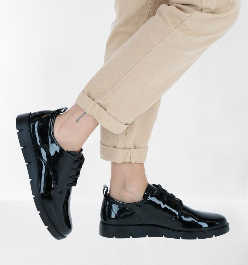 ECCO Bella Chaussures à Lacets Oxford en Noir en cuir (280978)