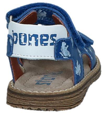 Donkerblauwe Sandalen met Tekening Stones and Bones Niro, Blauw, pdp