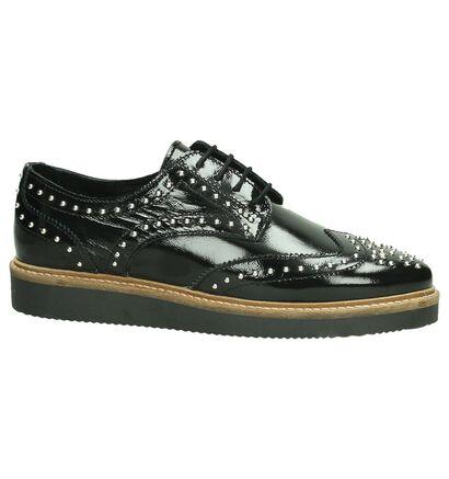 Poelman Chaussures à lacets en Noir en cuir (190279)