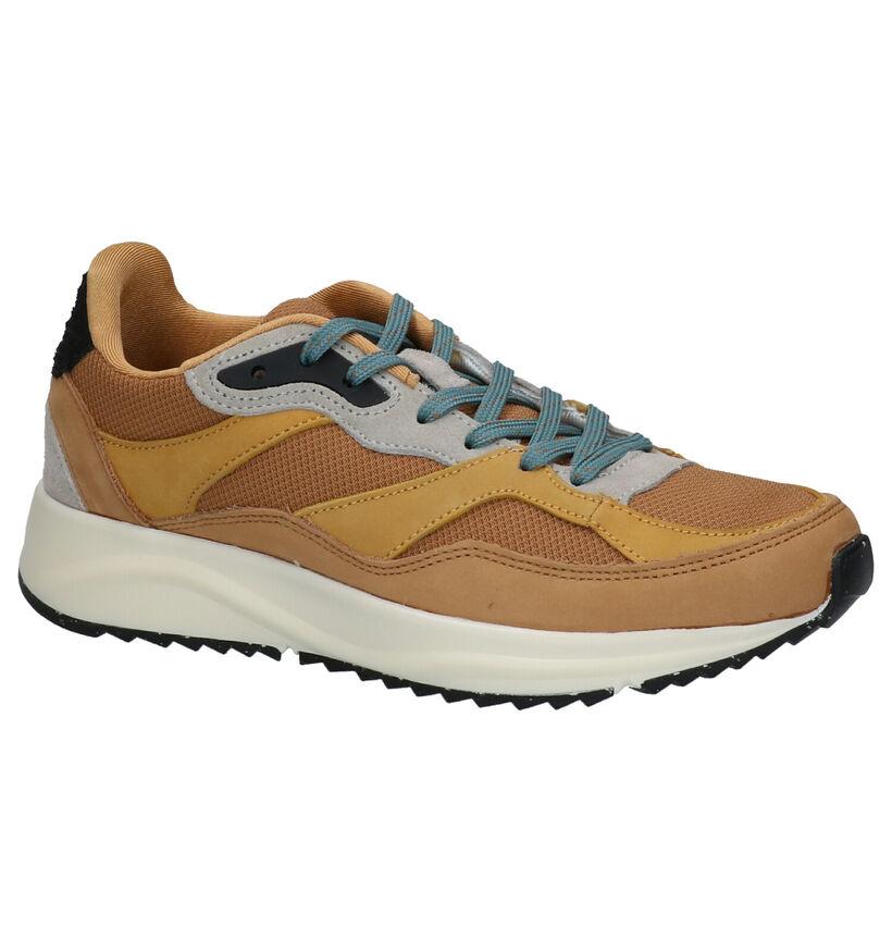 Woden Chaussures à lacets en Jaune ocre en cuir (254200)