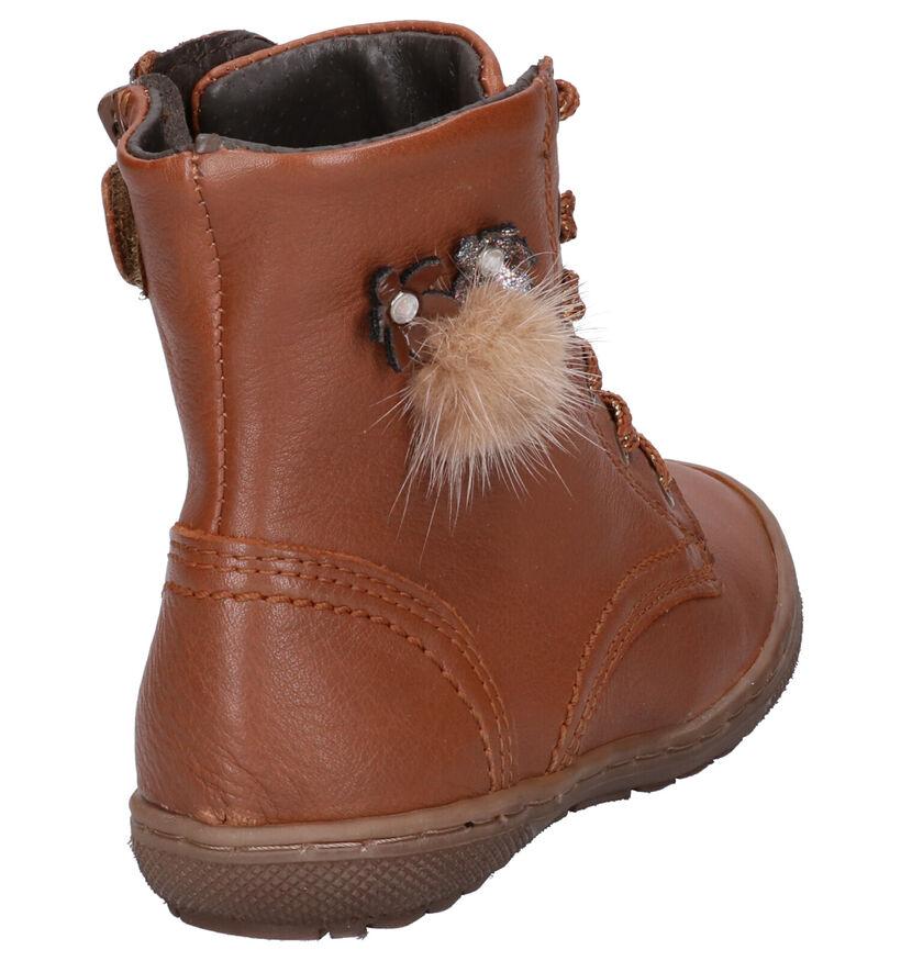 Little David Valencia 2 Chaussures hautes en Cognac en cuir (261295)