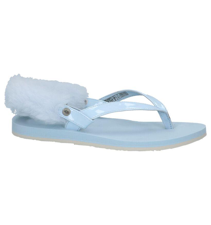 Lichtblauwe Sportieve Sandalen UGG Laalaa in lak (210287)