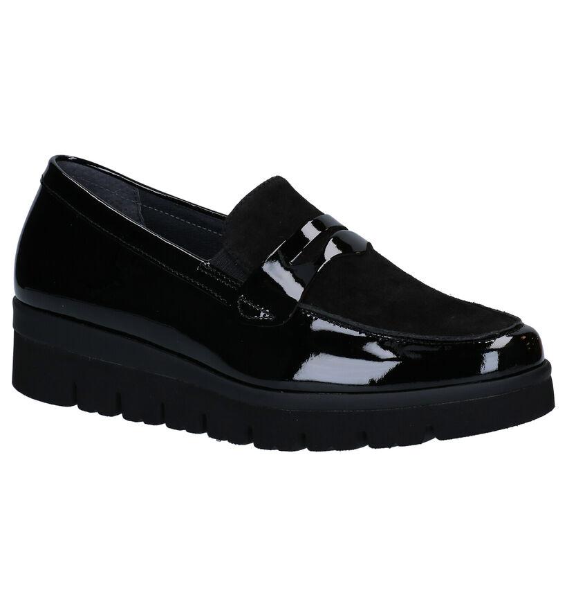 Gabor OptiFit Loafers en Noir en cuir (282356)