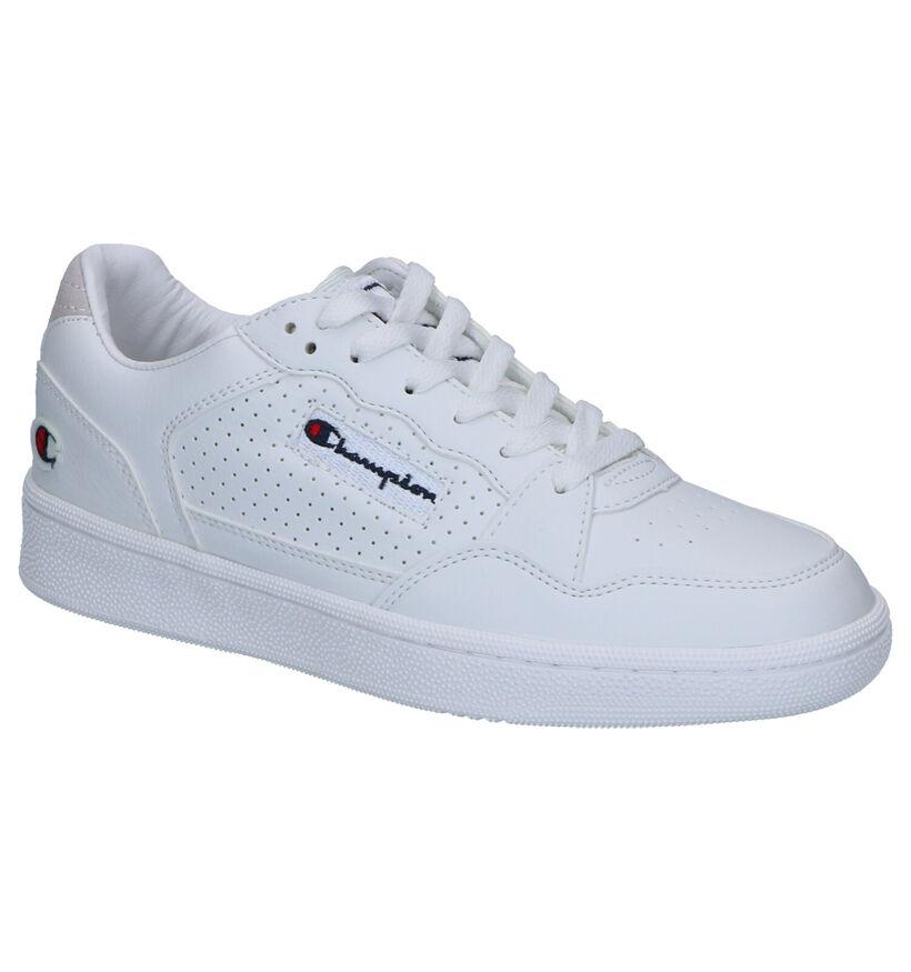 Champion Cleveland Witte Sneakers in kunstleer (253519)