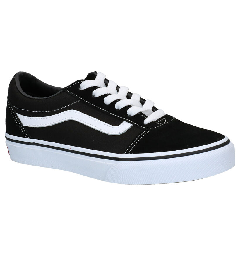 Vans Ward Zwarte Sneakers in leer (277573)