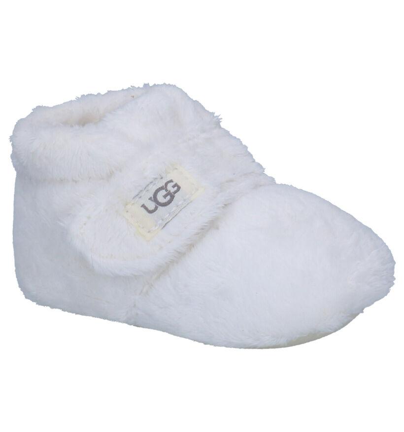 UGG Bixbee Pantoufles en Blanc en textile (254130)