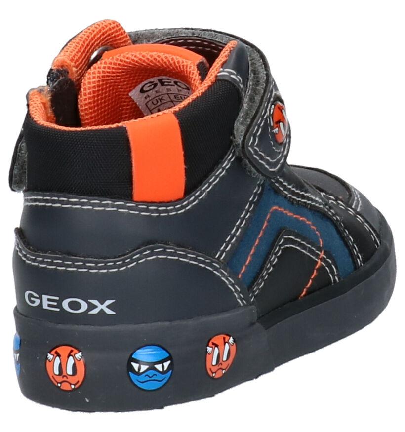Geox Blauwe Sneakers in daim (273255)