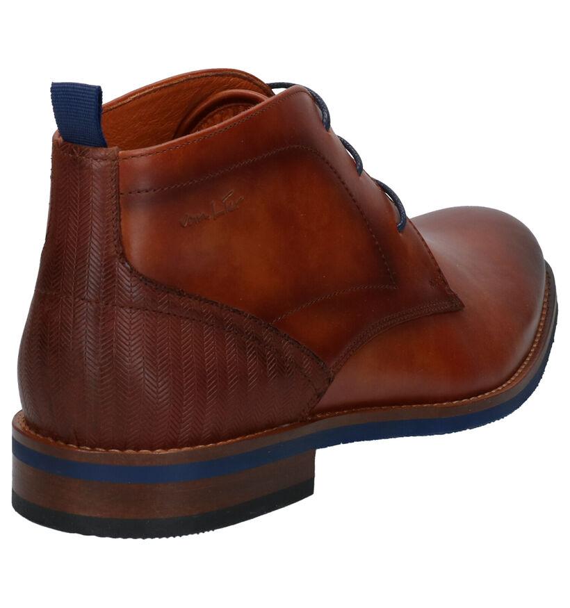 Van Lier Chaussures hautes en Cognac en cuir (272965)