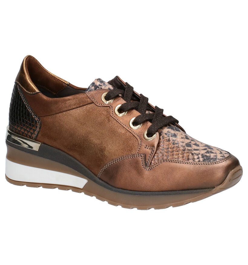 Softwaves Chaussures à lacets en Bronze en cuir (261471)