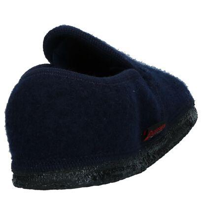 Giesswein Pantoufles fermées en Bleu foncé en laine (235440)