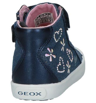 Geox Chaussures hautes en Bleu en textile (210511)