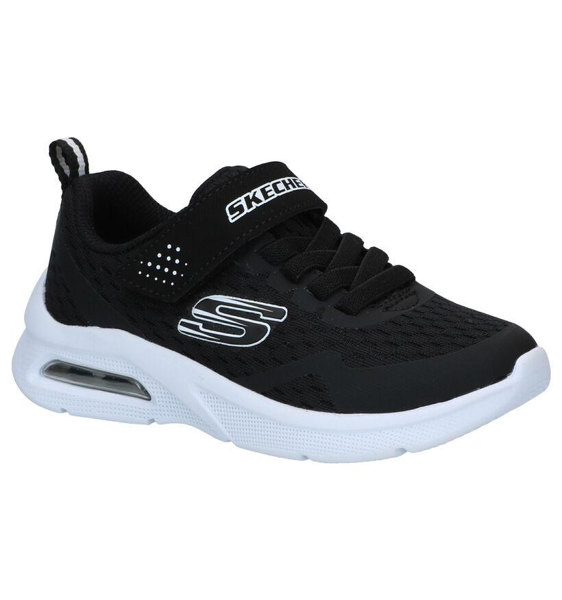Skechers Microspec Zwarte Sneakers in stof (287134)
