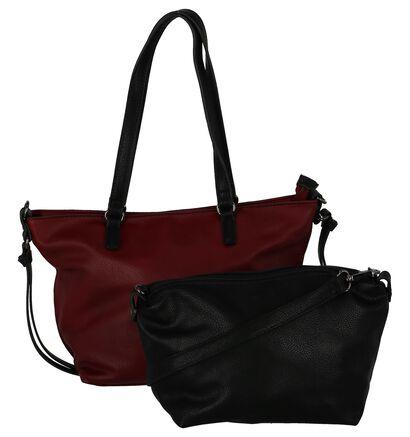 Bordeaux Bag in Bag Schoudertas Emily & Noah in kunstleer (227489)