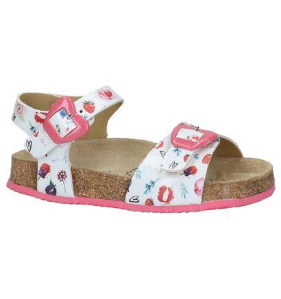 Witte K3 Sandalen met Bloemenprint, Wit, pdp