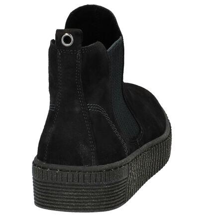 Zwarte Geklede Boots Gabor Best Fitting in daim (231199)