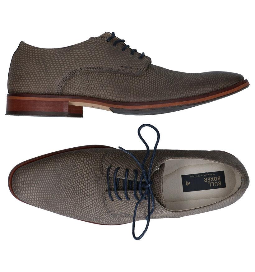 Bullboxer Chaussures habillées en Vert kaki en nubuck (276985)