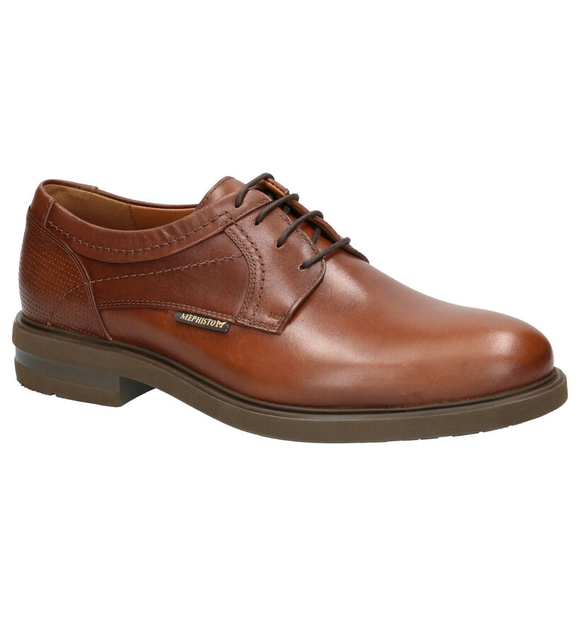 Mephisto Olivio Toby Chaussures habillées en Cognac en cuir (259901)