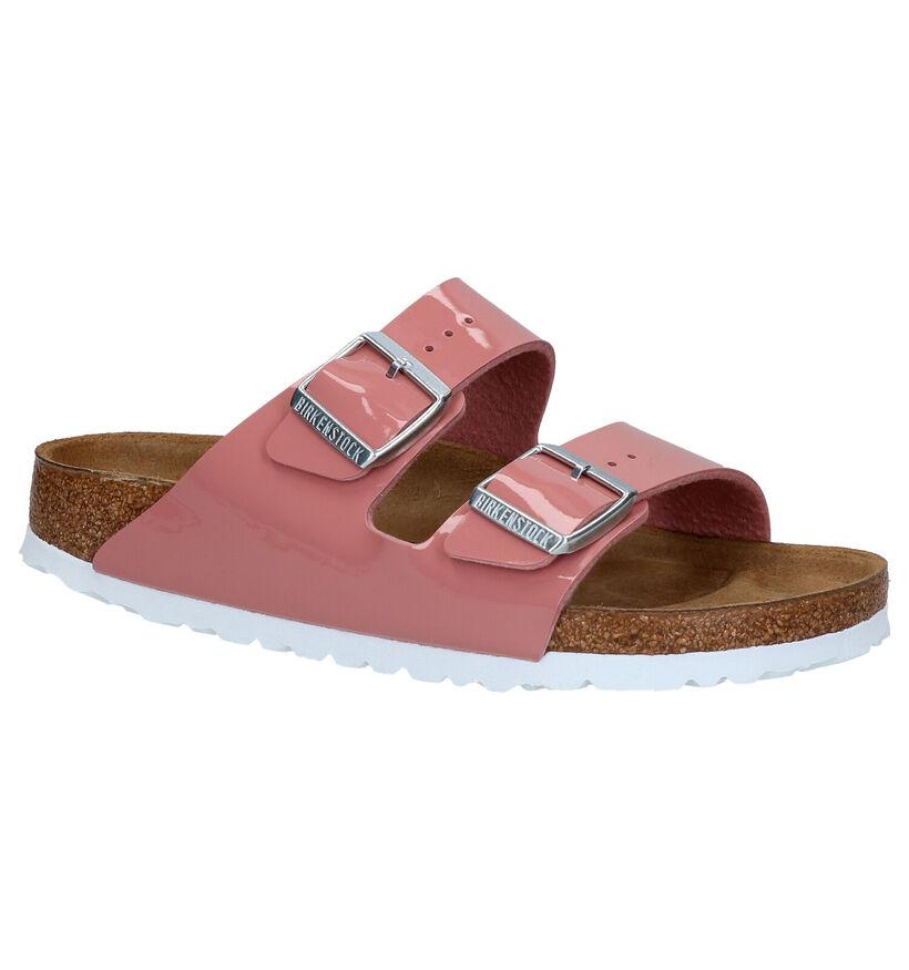 Birkenstock Arizona Roze Slippers in kunstleer (271284)