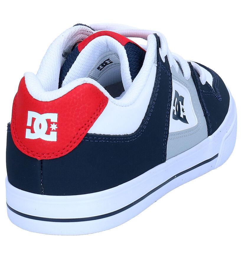 DC Shoes Pure Baskets en Bleu en cuir (274388)