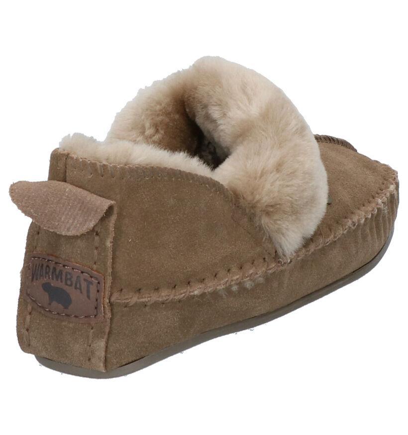 Warmbat Polar Fox Kaki Pantoffels in daim (261217)