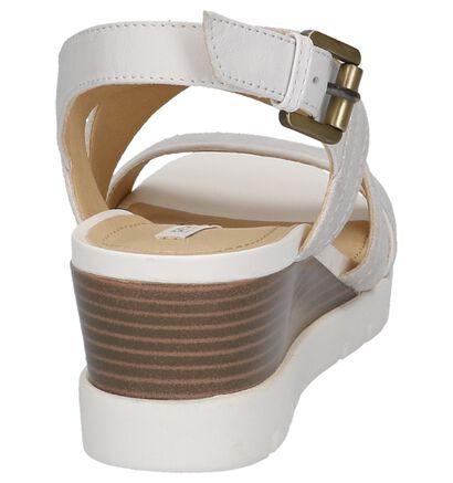 Zilveren Sandalen met Sleehak Geox Marykarmen in leer (220147)