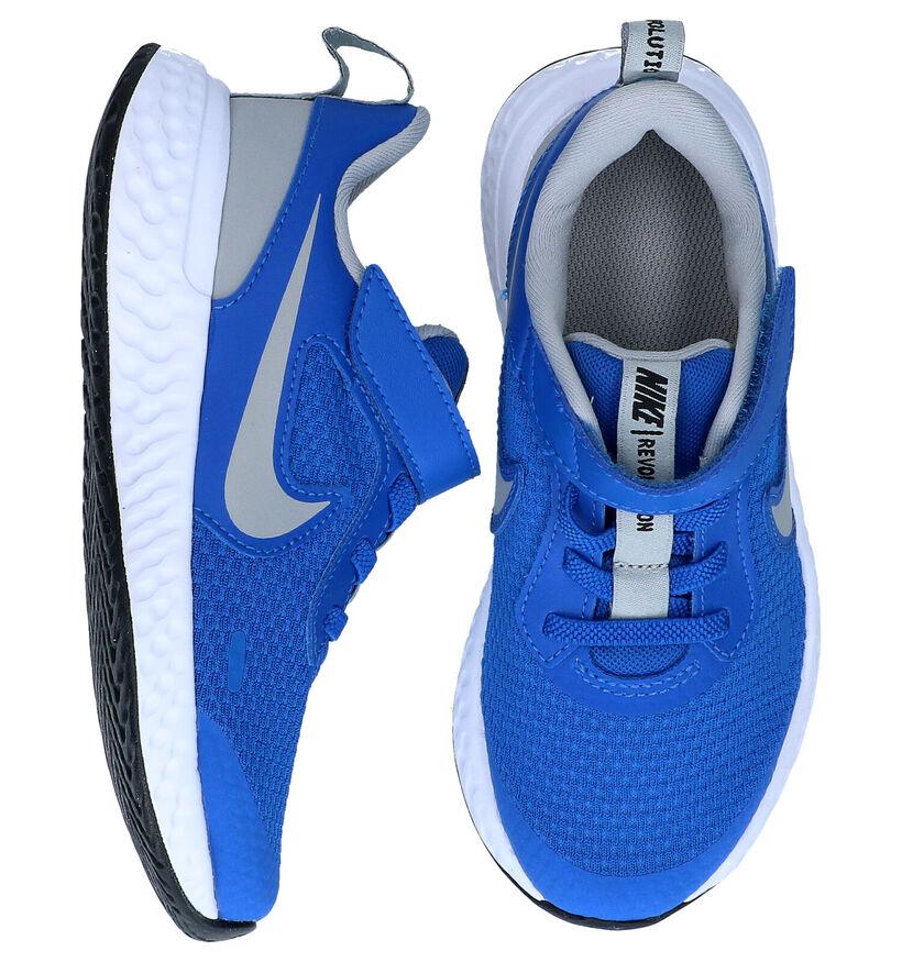 Nike Revolution Baskets en Bleu en textile (284481)