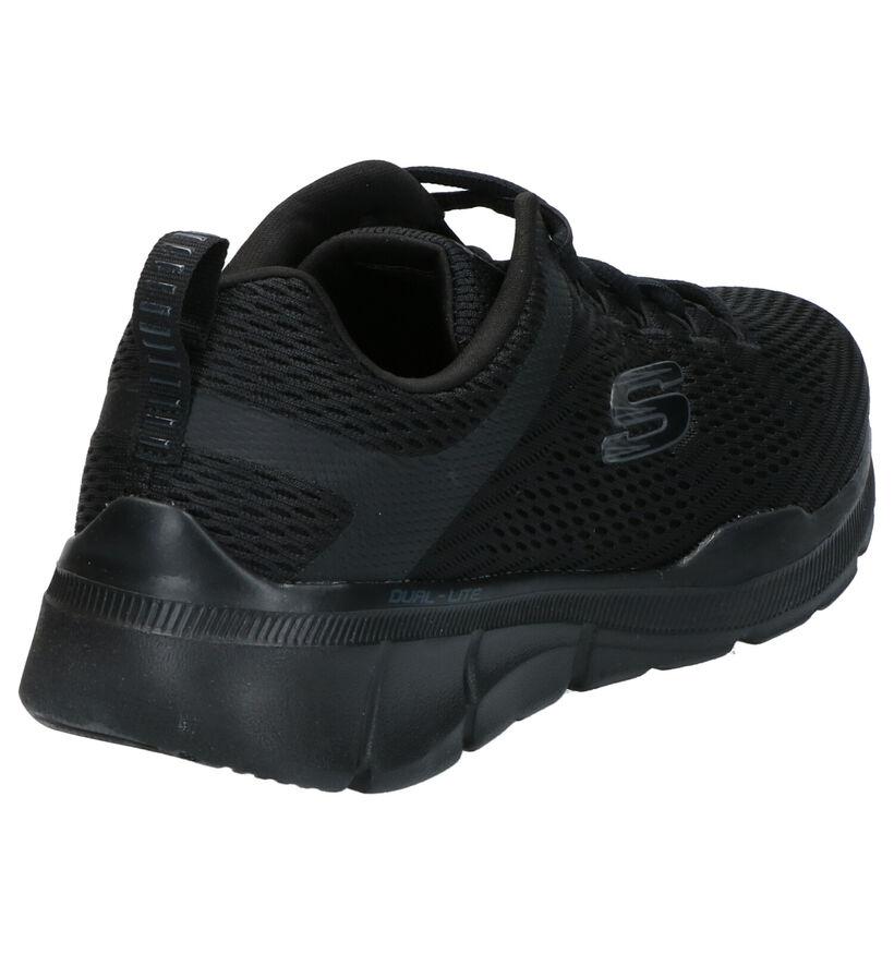 Skechers Equalizer Blauwe Sneakers in stof (272825)