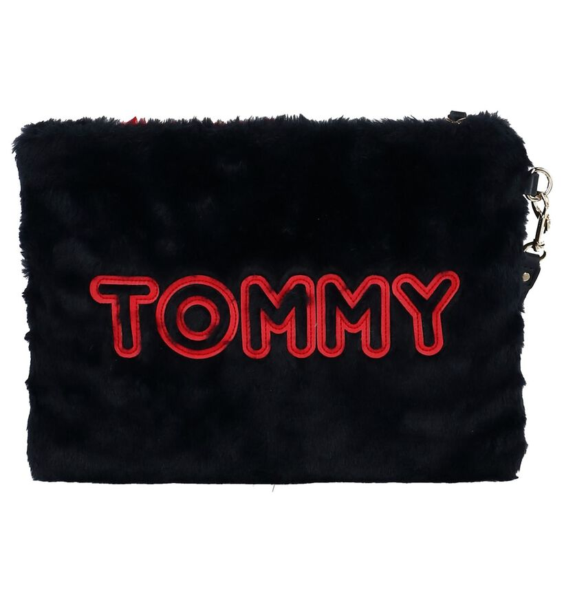 Donkerblauwe Tas Tommy Hilfiger Cool Tommy LRG Pouch in stof (236869)