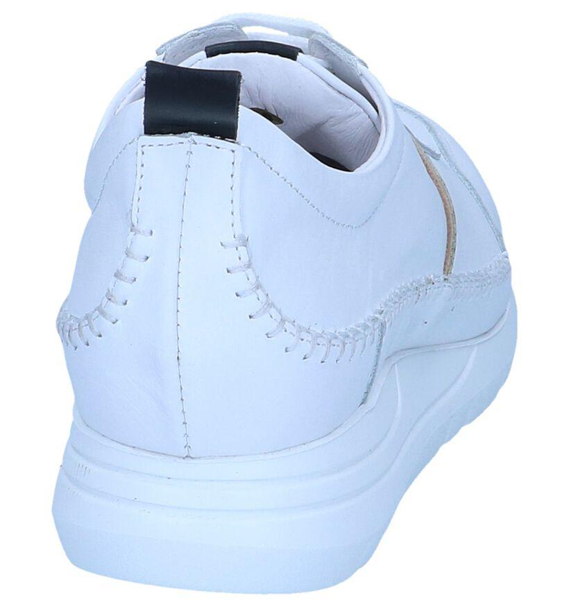 Witte Lage Sneakers River Woods in leer (253086)