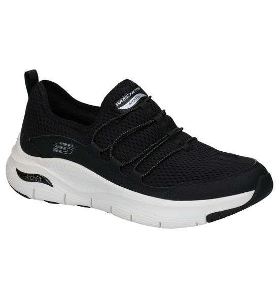 Skechers Arch Fit Lucky Toughts Zwarte Slip-on Sneakers