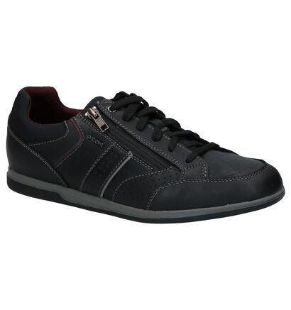 Geox Renan Chaussures à Lacets en Noir en cuir (266705)