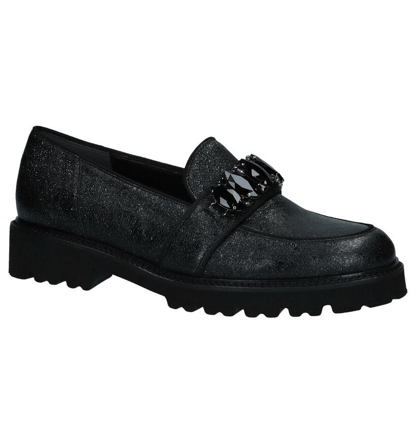 Gabor Best Fitting Zwarte Loafers in nubuck (231352)