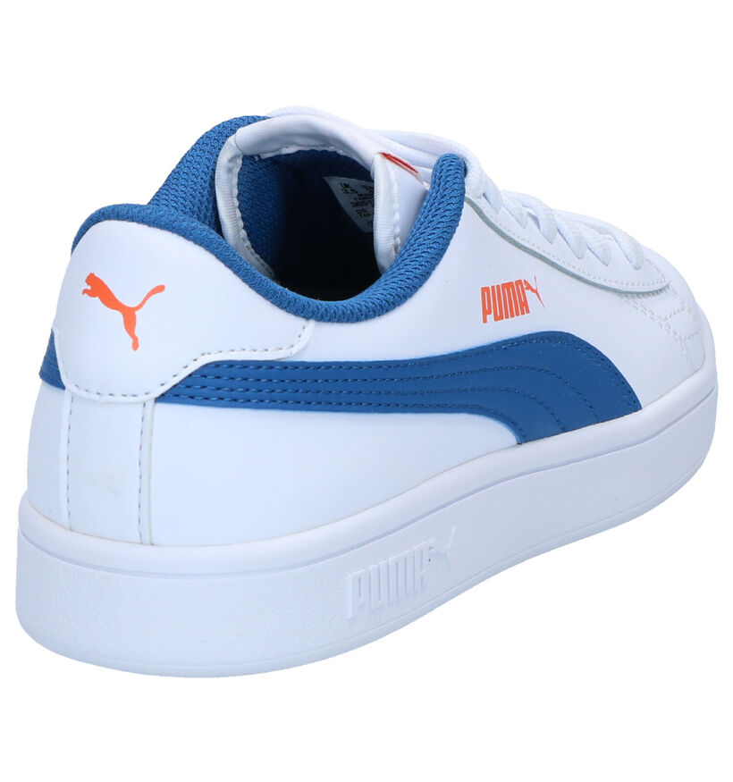 Puma Smash Witte Sneakers in kunstleer (265618)