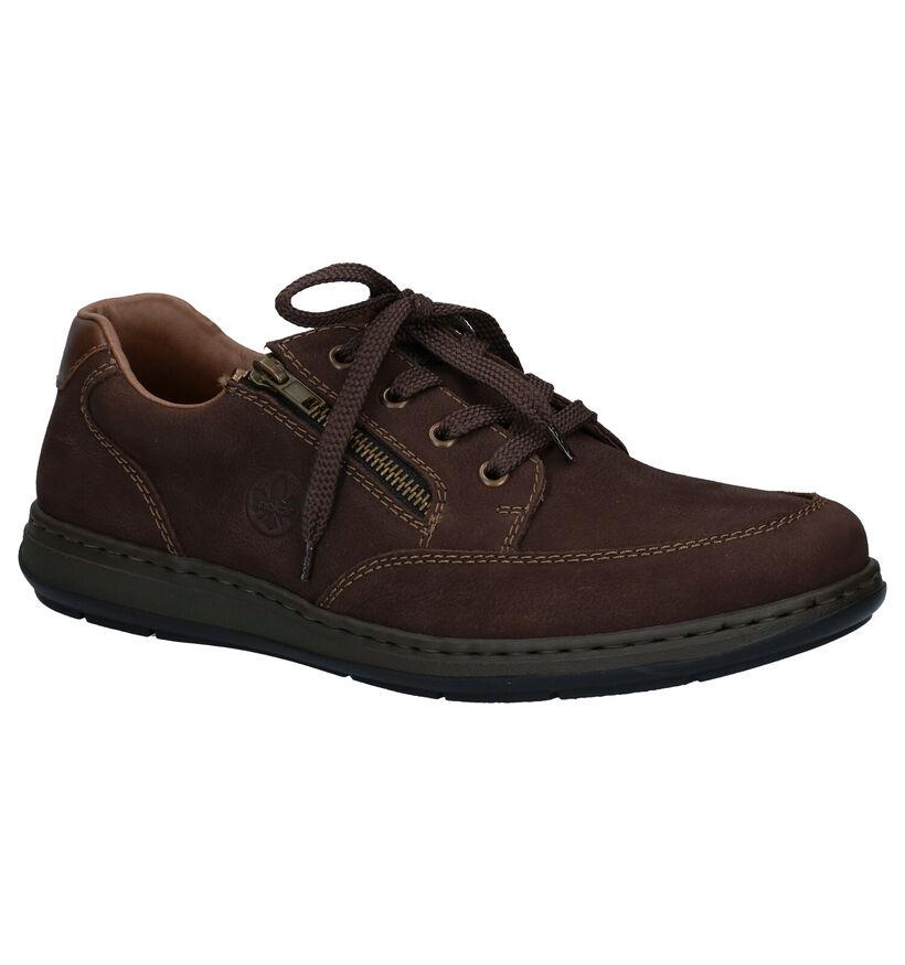 Rieker Chaussures basses en Brun foncé en nubuck (281843)