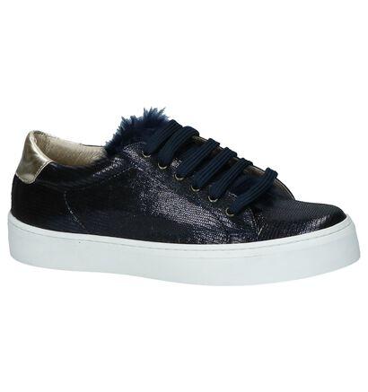 Donker Blauwe Sneakers Milo & Mila in nubuck (232666)
