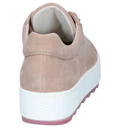 Gabor OptiFit Chaussures à lacets en Rose foncé en daim (245379)