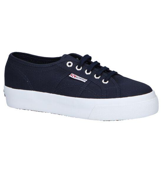 Donkerblauwe Lage Sneakers Superga Cotu