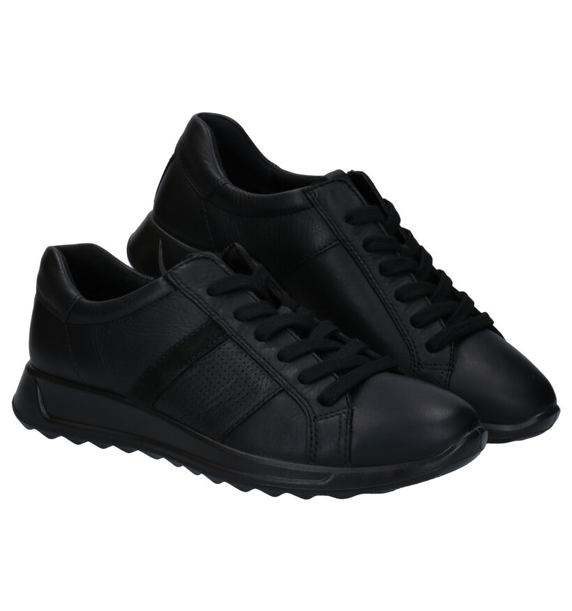 ECCO Flexure Runner Chaussures à lacets en Noir en cuir (280883)