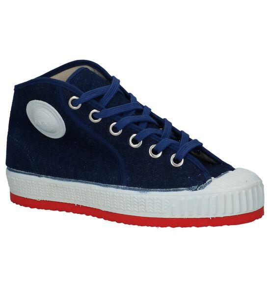 Donkerblauwe Hoge Sneakers 0051 Jeans