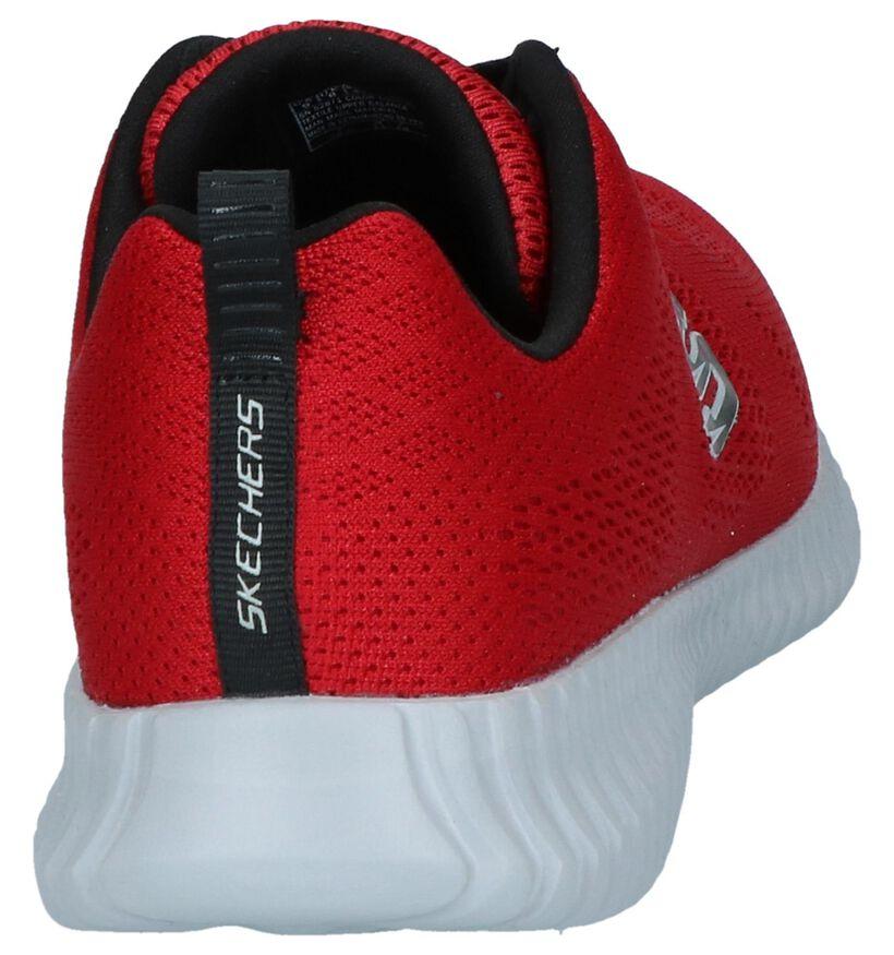 Skechers Elite Flex Clear Leaf Baskets en Noir en textile (277907)