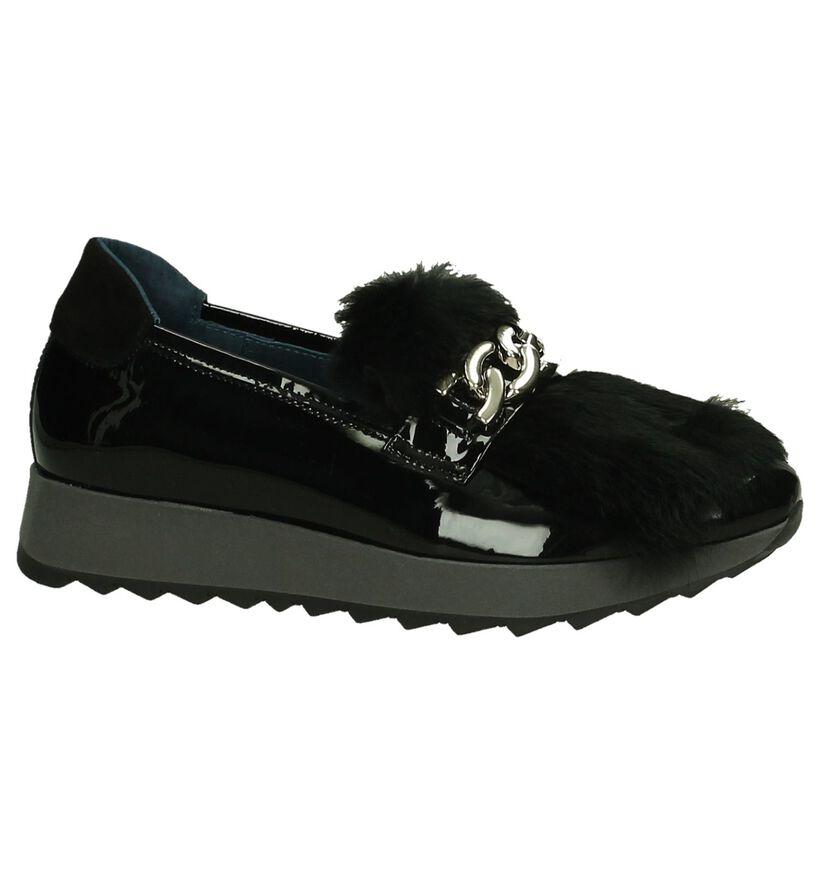 Humat Chaussures slip-on en Noir en cuir (204364)